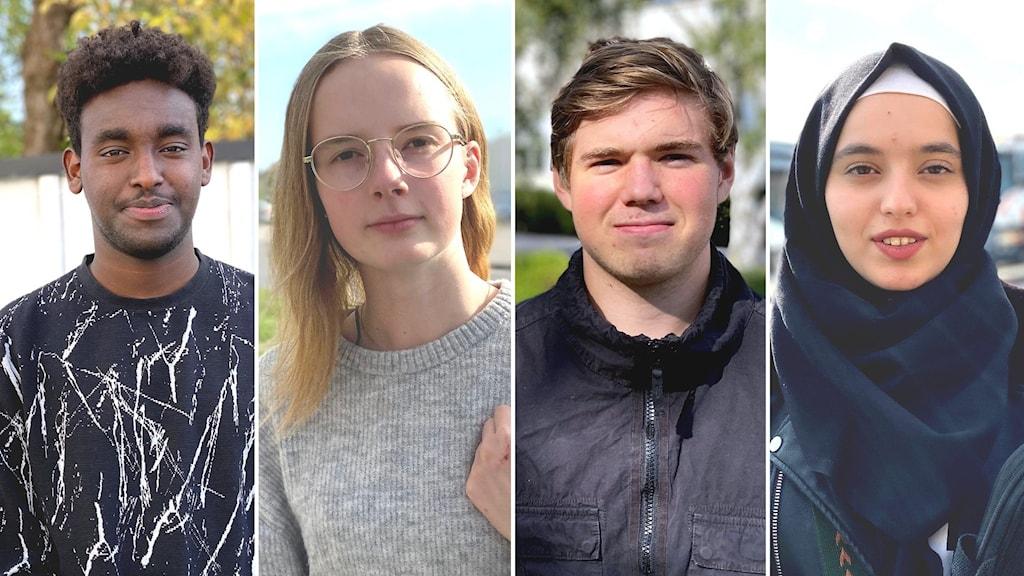 Ungdomar i Nyköping: Abdisamad, Ellinor Forsberg, Henrik Törn & Rama Tit