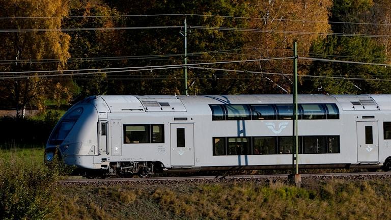 Ett regionaltåg, dubbeldäckaren X40