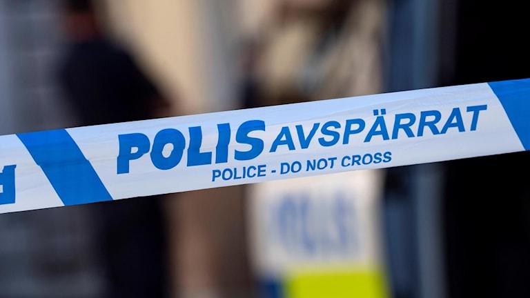 Avspärrningsband polisen. Foto: Johan Nilsson/TT.