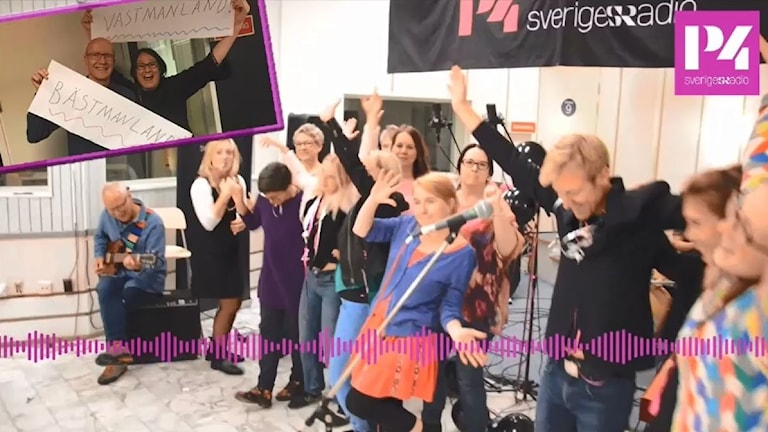 P4 Sörmlands medarbetare sjunger.