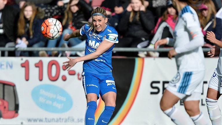 Olivia Schough, när Eskilstuna United mötte Djurgården.