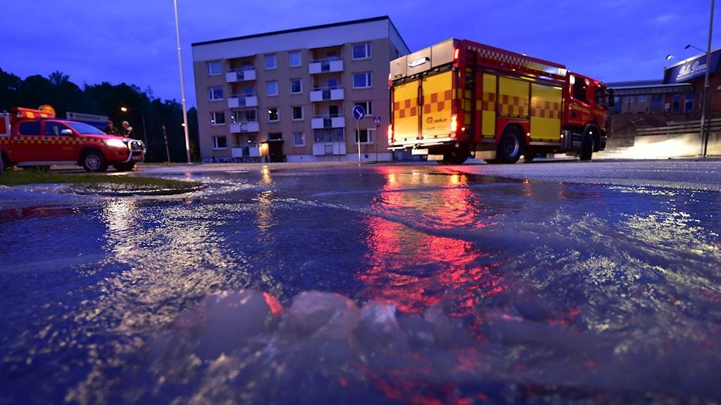 vattenläcka i Nyköping