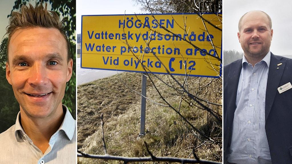 Pär Dalhielm, vd Svenskt Vatten och LRF:s Sörmlandsordförande Johan Lagerholm.