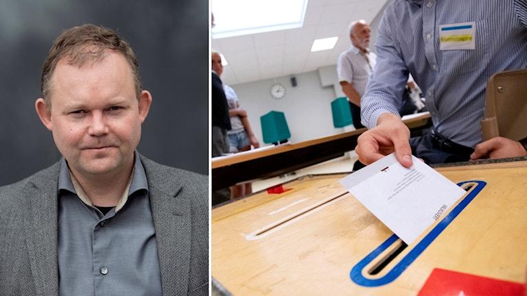Henrik Ekengren Oscarsson och valkuvert.