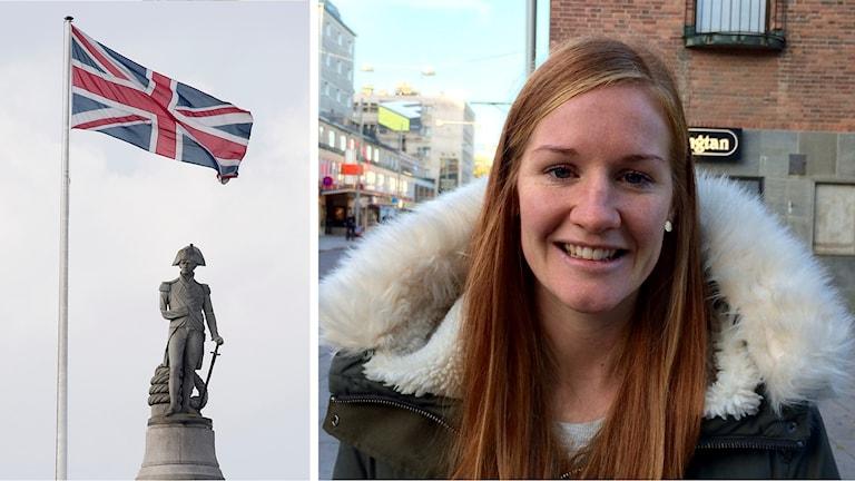 Vaila Barsley och den brittiska flaggan