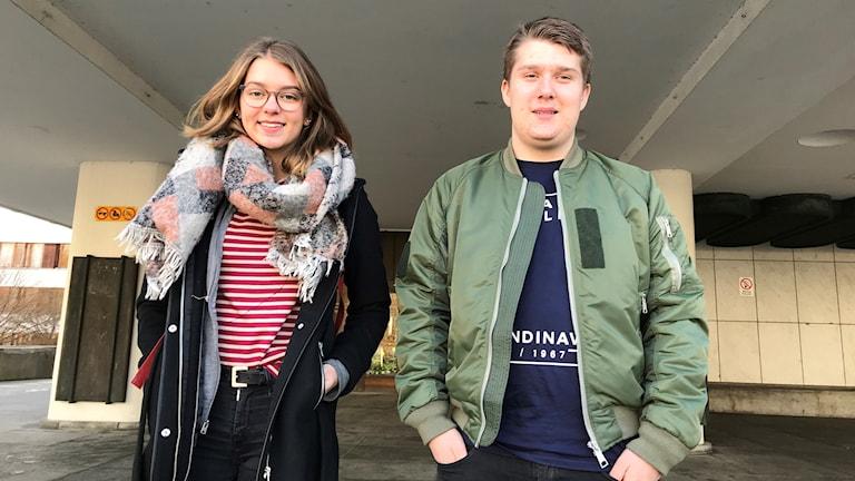 Malin Andersson och Linus Nylund