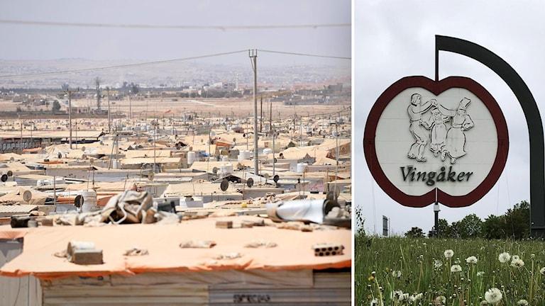 Vingåker och flyktingläger i Jordanien