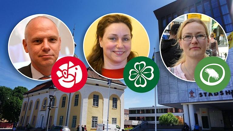 Urban Granström, Socialdemokraterna. Martina Hallström, Centerpartiet. Malin Hagerström, Miljöpartiet.