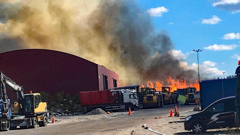 Brand på Lilla Nyby Eskilstuna