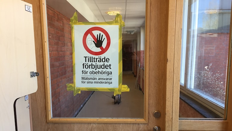 Tillträde förbjudet på Nyköpings Högstadium Omega