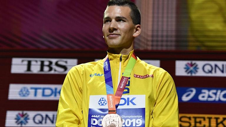 Perseus Karlström med bronsmedalj på VM.