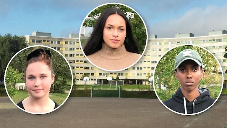 Tilia Öberg, Isabell Santillan, Omar Abdikar