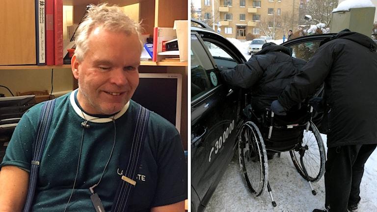 Lars-Ove Nederman och en taxibil.