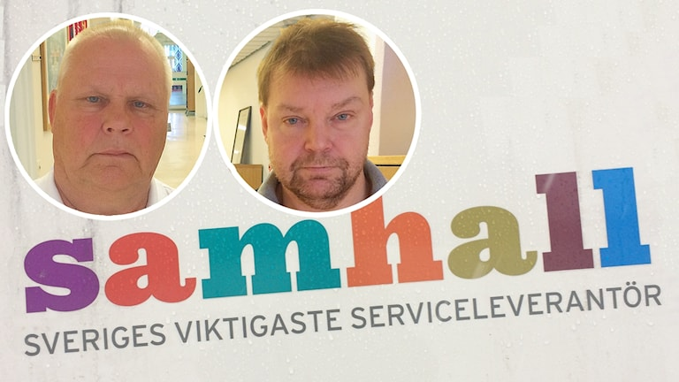IF Metalls ordförande i Sörmland, Dan Söderqvist och Magnus Lejon, ombudsman
