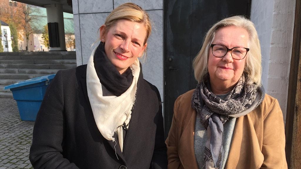 Anna af Sillén (M) och Marita Göransson (KD