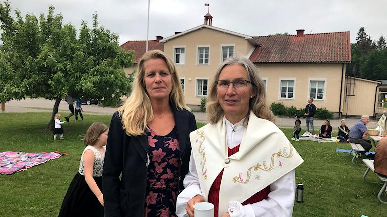 Agneta Larsson och Nina Eriksson har jobbat på Fogdö skola i mer än 18 år.