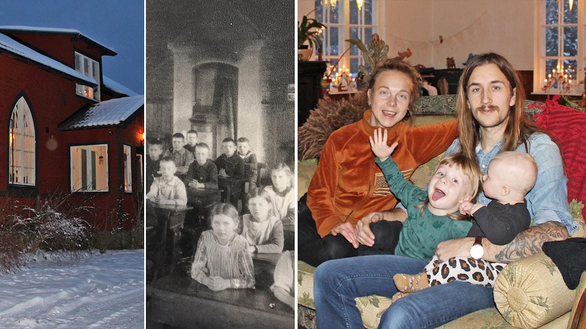 Oskar och Ilse Wersäll med sönerna Truls och Ru sitter i en soffa.