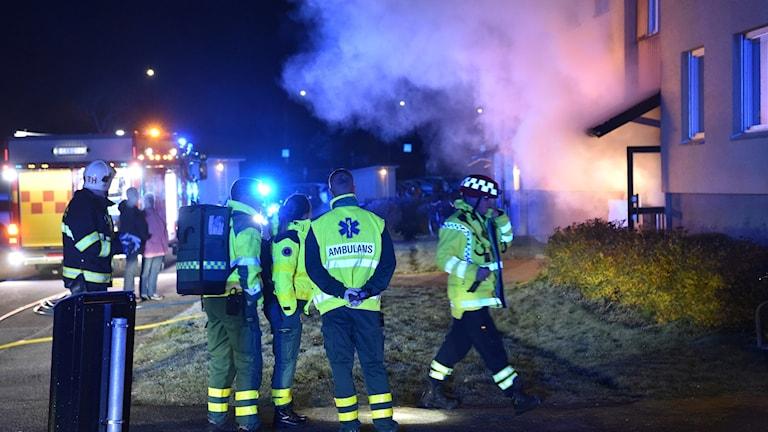 Rök från trapphus i lägenhet. Foto: Pontus Stenberg.
