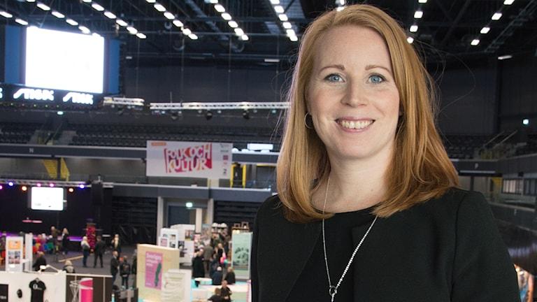 Centerpartiets Annie Lööf på Folk och Kultur i Eskilstuna 2018.
