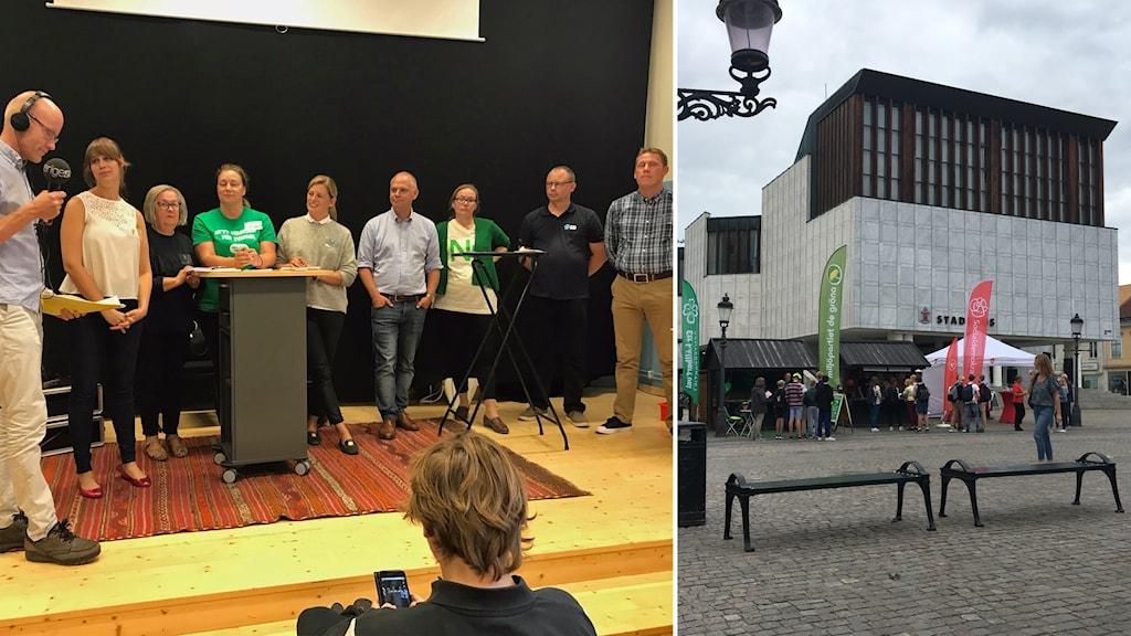 Valdebatt i Nyköping.