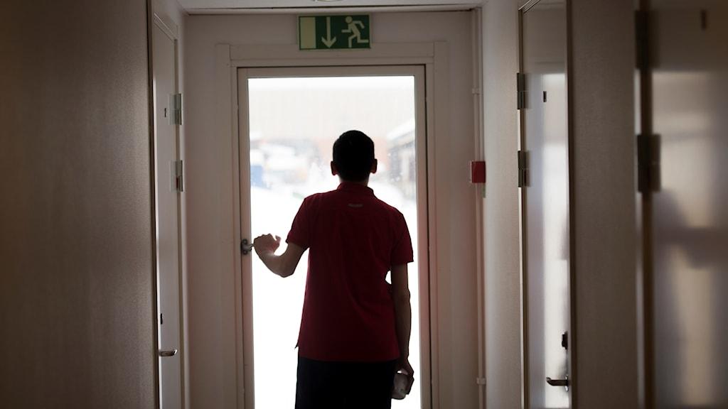 Ensamkommande flyktingbarn. Foto: Fredrik Sandberg/TT.