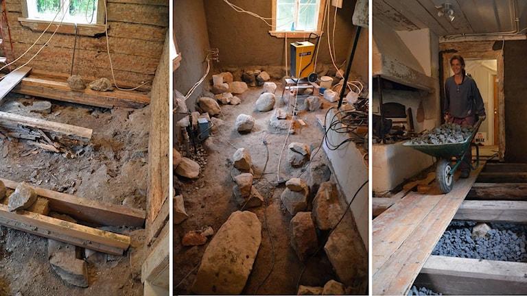 Bildserie: Renovering av husgrund.