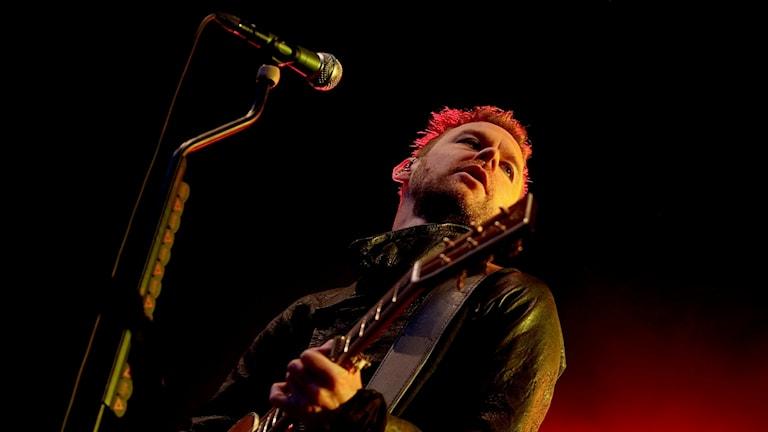 Joakim Berg i Kent på scenen. Foto: Stian Lysberg/TT.