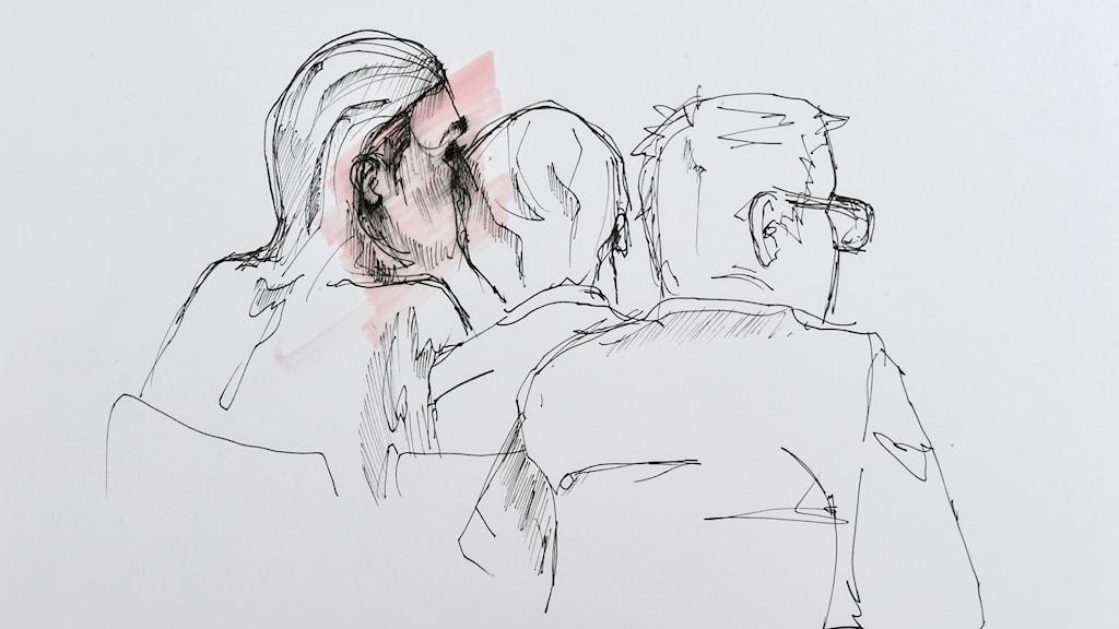 Teckning över 42-åringen i rätten 31 maj 2017