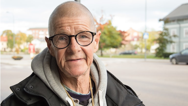 Stefan Korbén säljer tidningen Situation Sthlm i Eskilstuna.