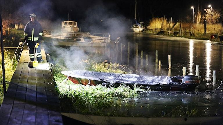 utbränd båt