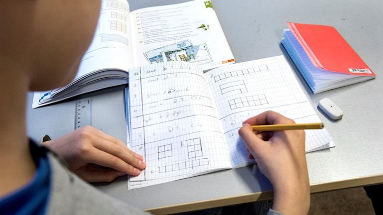 Elev under en matematiklektion på Bredängsskolan Foto: Lars Pehrson/TT.