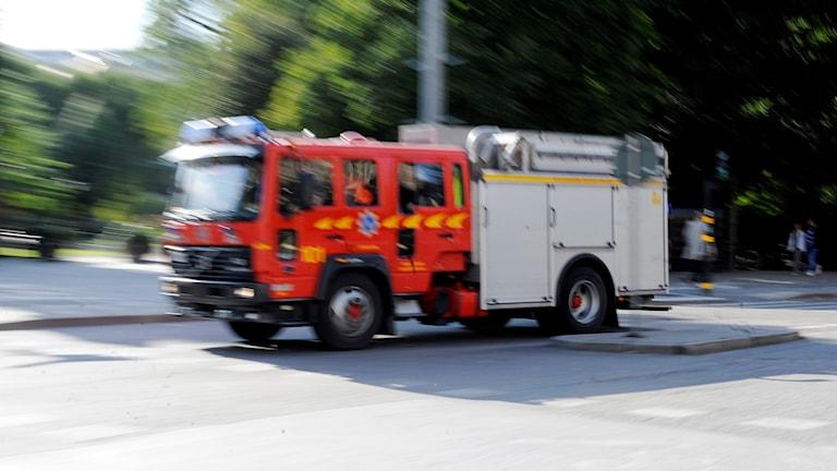 Brandbil under utryckning Foto Bertil Ericson/TT.