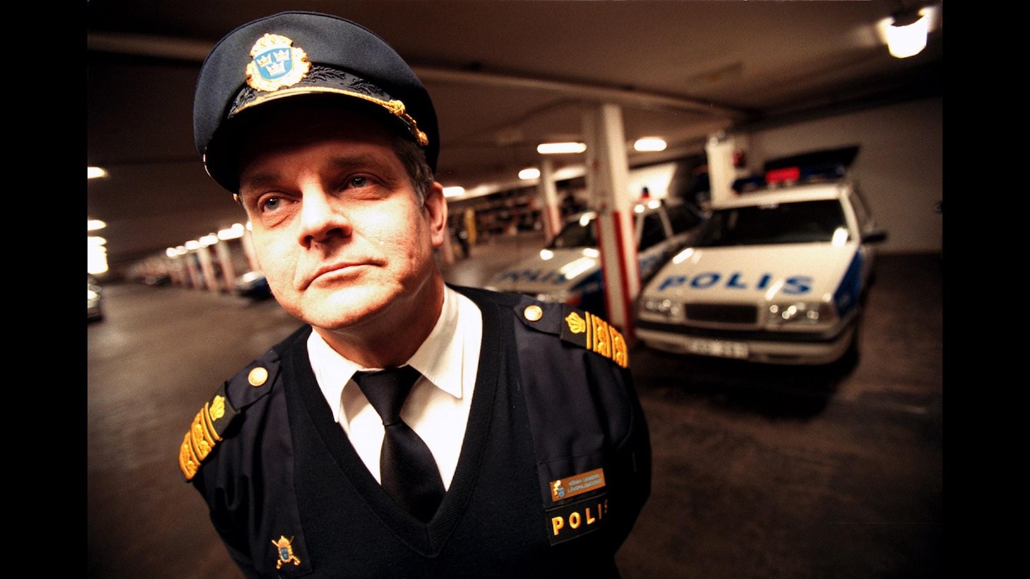 Göran Lindberg, länspolismästare i Uppsala län. kallas även Kapten klänning för sin starka kamp för jämställdhet i poliskåren. Foto: Anette Nantell/Scanpix.