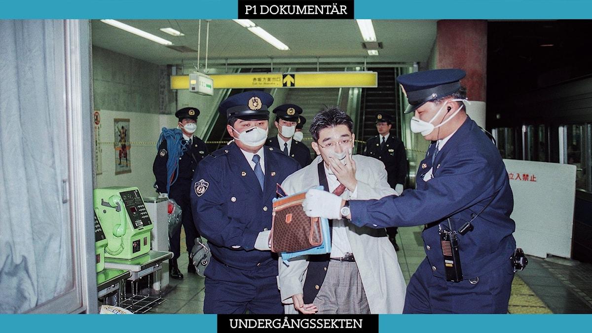 Nervgasattacken i Tokyos tunnelbana 1995.
