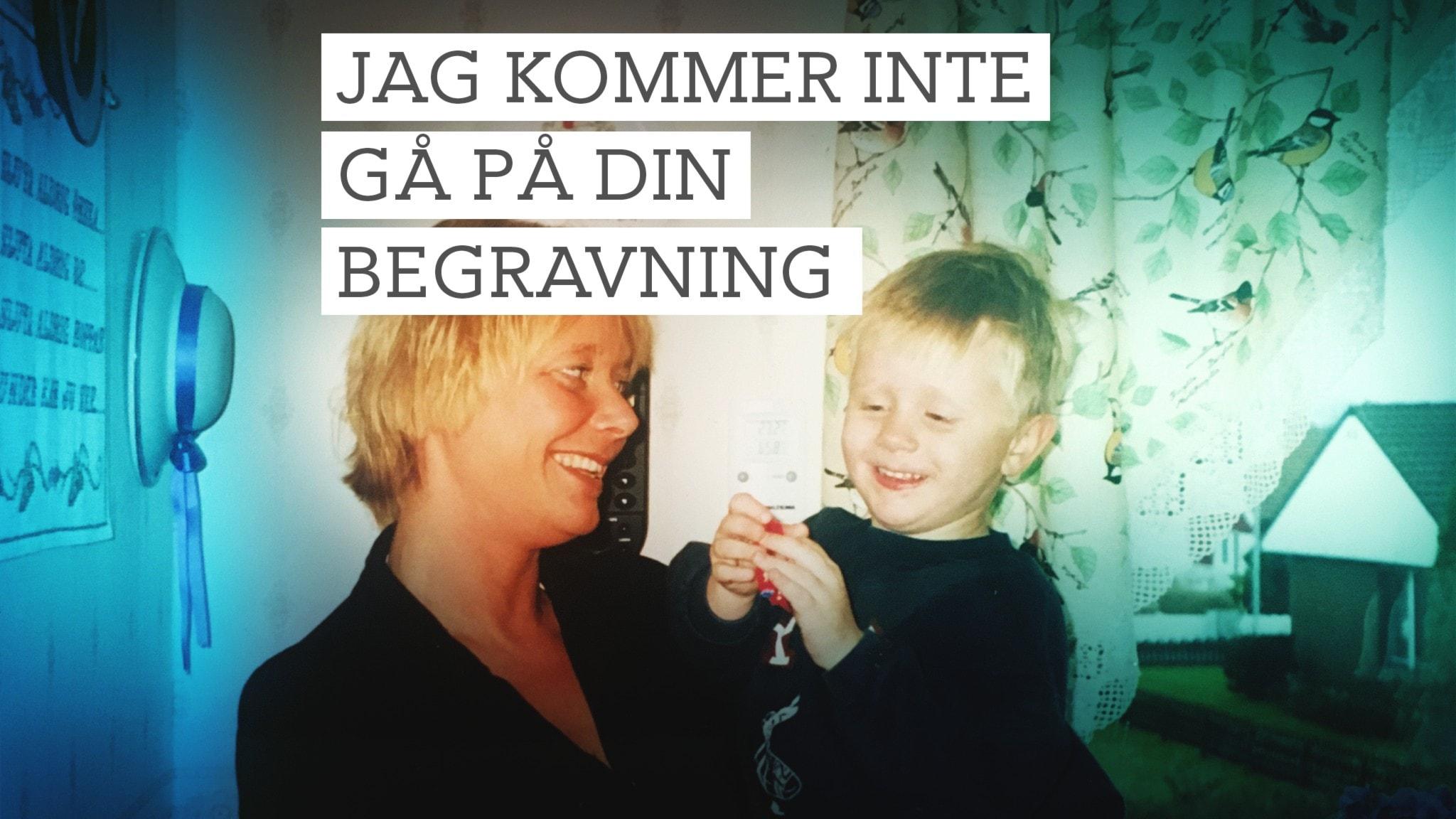 Mamma Solveig och Joacim när han var liten