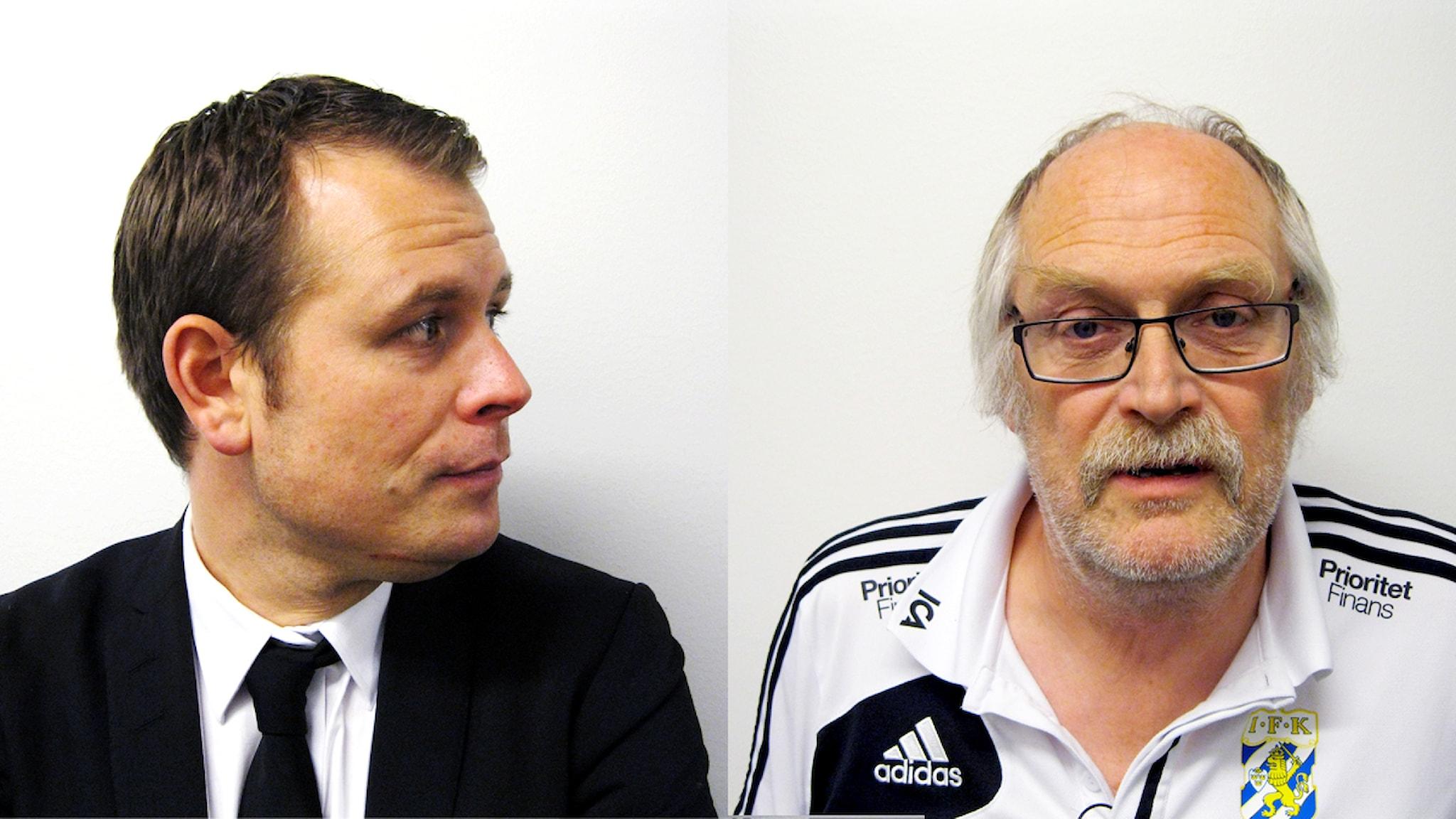 Mikael Stahre och Bertil Lundqvist.  Montage: Anders Widlund.