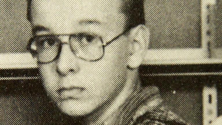 Peter Mangs i sjunde klass. Foto: Privat