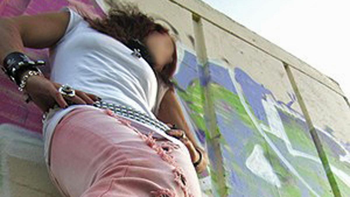 Den fastspända flickan. Foto:Privat