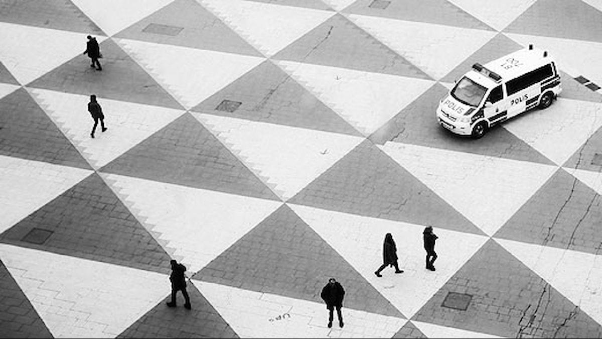 """Vardag på """"Plattan"""", Sergels torg i Stockholm. Foto: Jenny Groth."""
