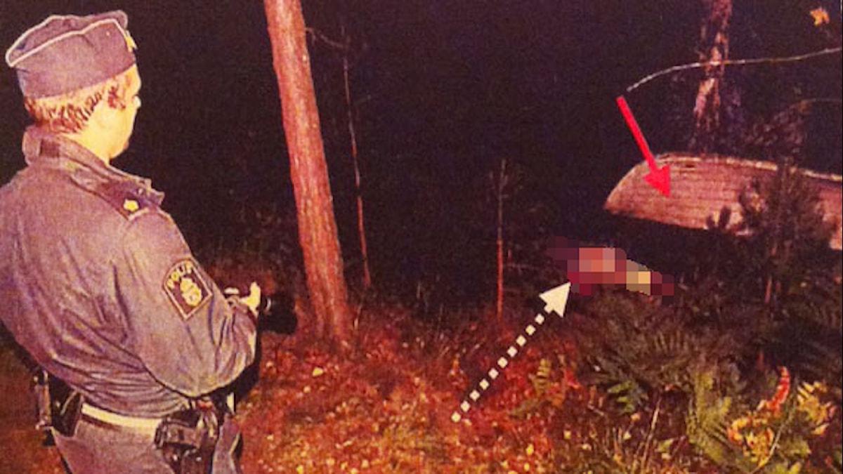 Kvinna hittad död vid badplats. Foto: Polisen.