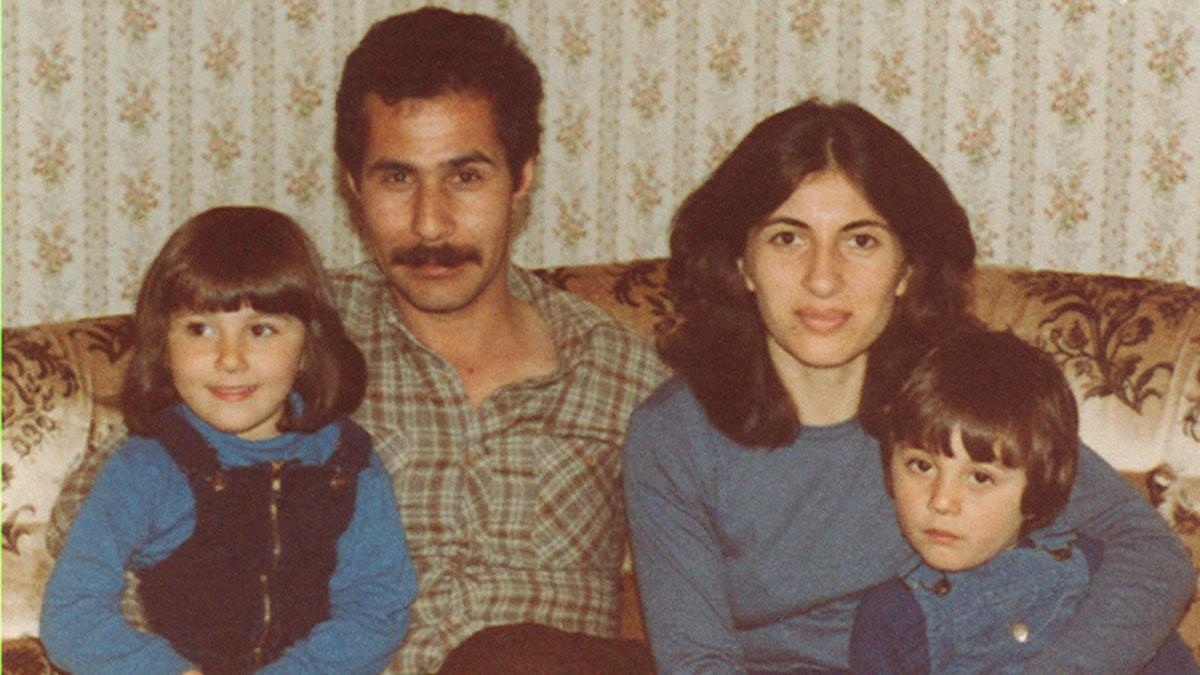 Familjen återförenad i Uppsala 1983. Foto: Privat.