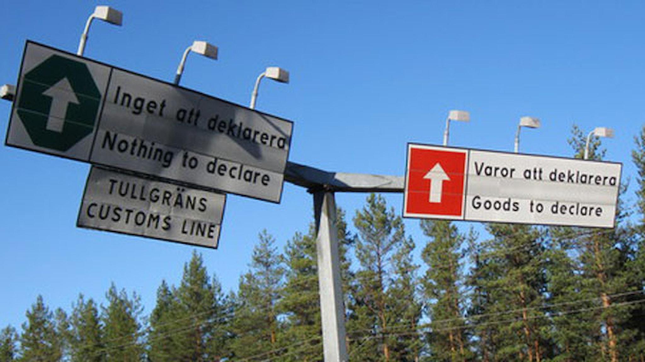 Vägen ut ur Sverige. Foto: Per Larsson