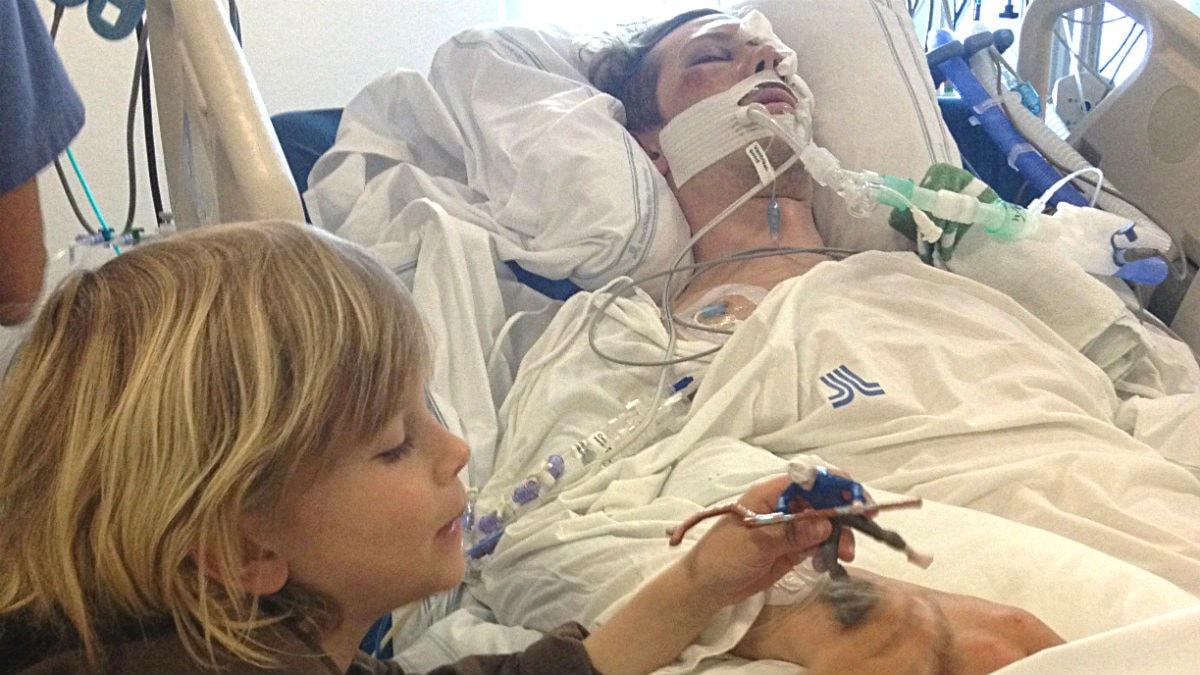 Seth hos sin pappa på sjukhuset