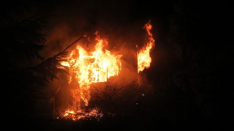 Brand på HVB-hemmet