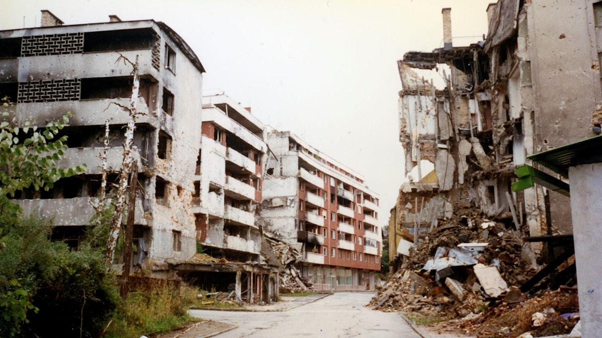Dejans barndomsgata i Sarajevo. Foto: privat