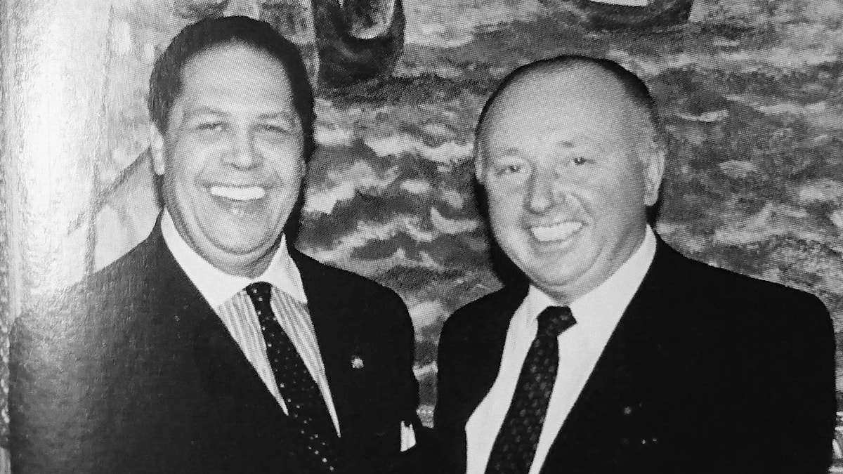 Lars Gullstedt (t.h.) tillsammans med Atlantas borgmästare, Maynard Jackson.