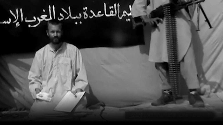 Johan Gustafsson i en video från al-Qaida