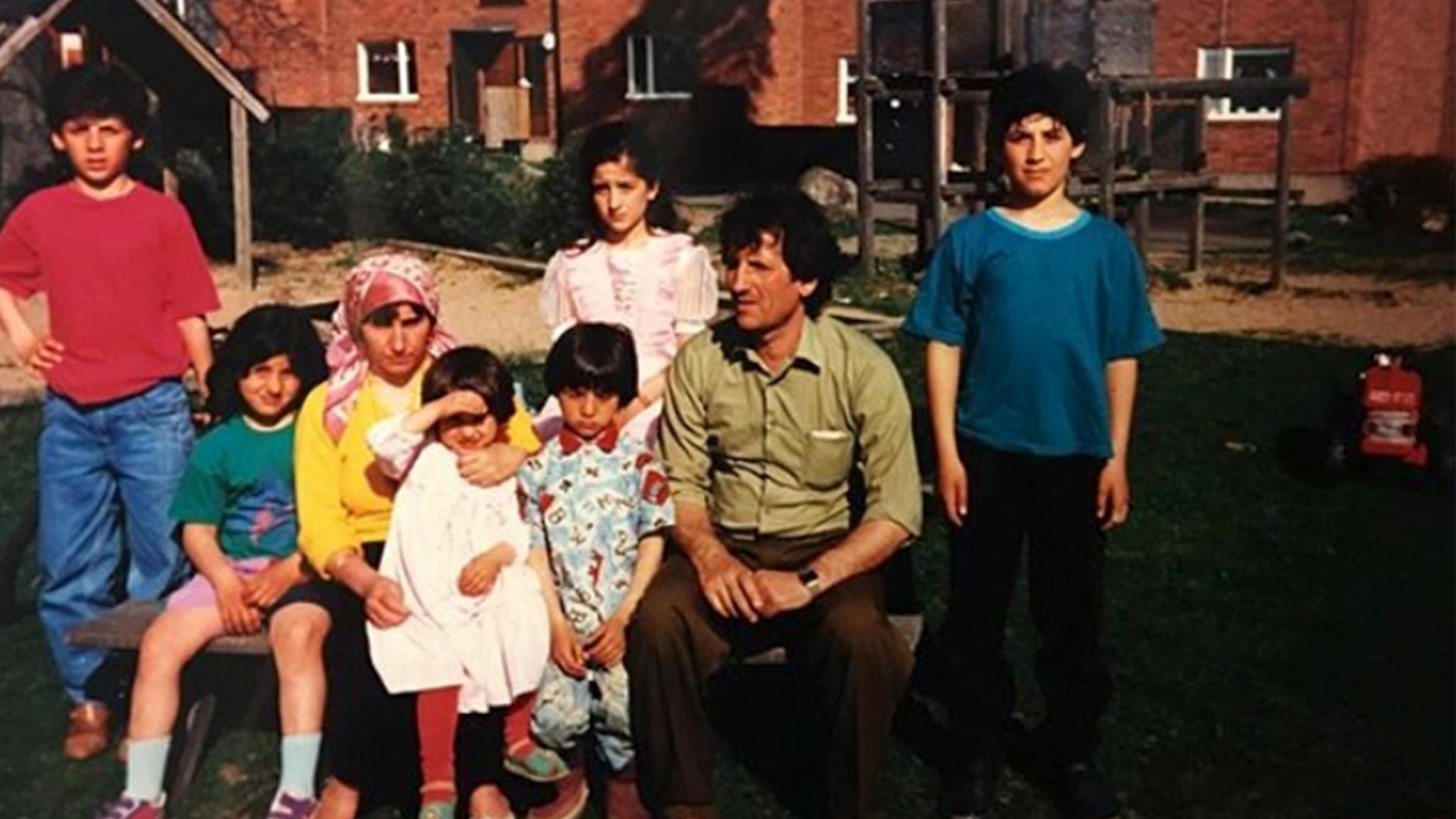 Trifa och familjen på gården i Morgongåva..