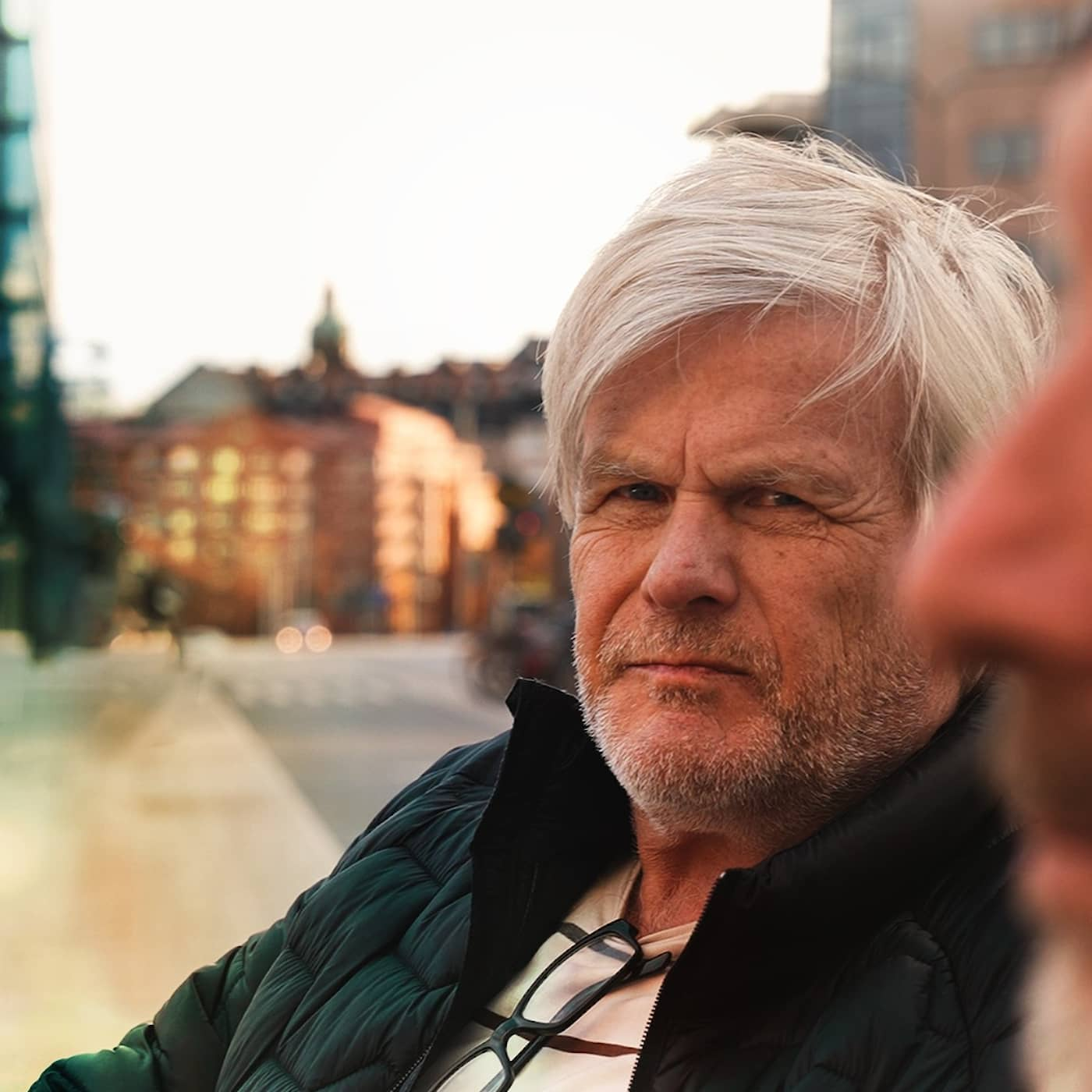 Hemlös i Stockholms city