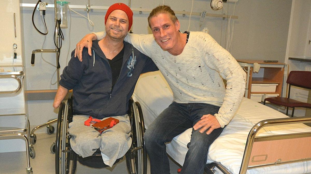 Hempa och Kalle på sjukhusrummet